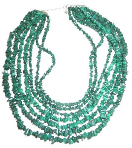 Mine Finds by Jay King 7 Strand Malachite Waterfall Necklace