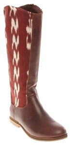Reef Riding Hand-woven Full Grain Leather Knee High Casual Fair Trade Brown Boots