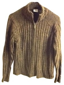 Columbia Multi-colored Brown Zipper Mock Collar Thick Long Sleeve Warm Sweater