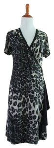 Voir Voir Animal Print Classic Dress