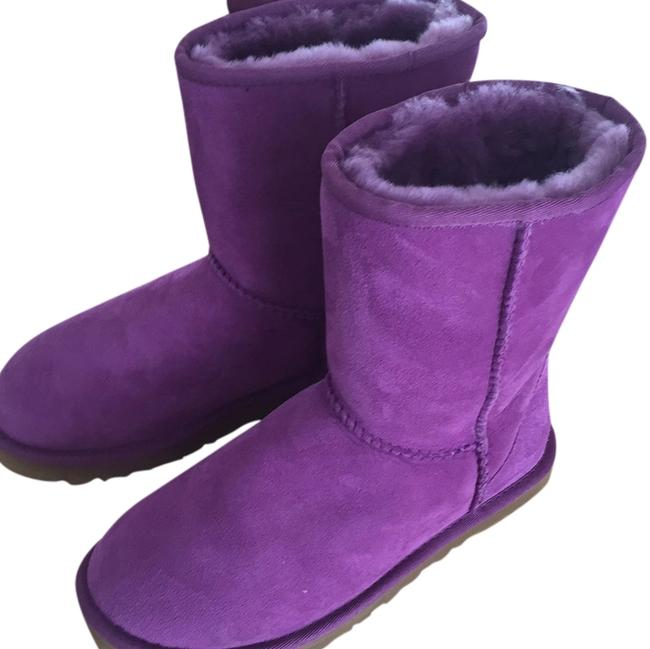 Item - Purple Classic Short Boots/Booties Size US 5 Regular (M, B)