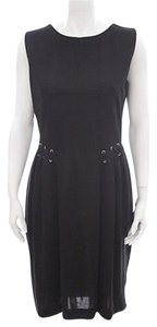 Saint Laurent Ysl Silver Eyelet Lace Dress