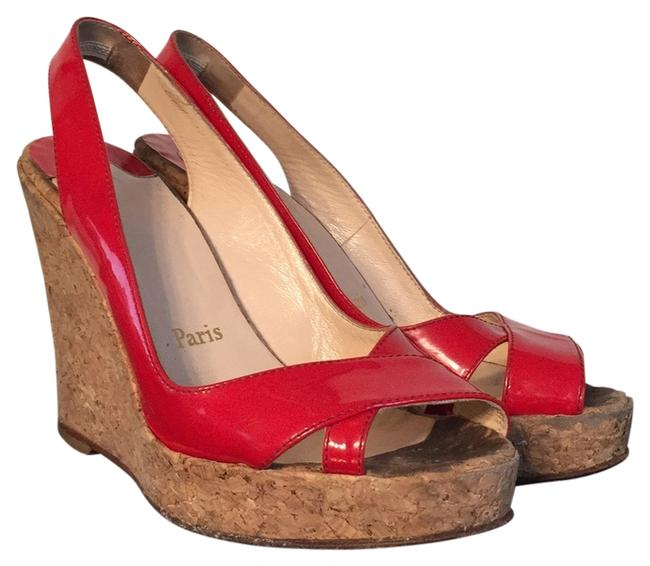 Item - Red Wedges Size US 7 Narrow (Aa, N)