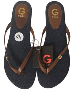 Guess Navy blue and brown Sandals