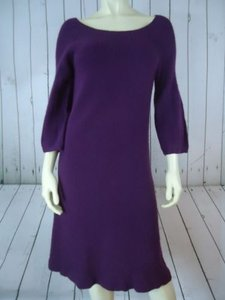 Ann Taylor Dress Wool Angora Cashmere Blend Soft Fuzzy Sweater