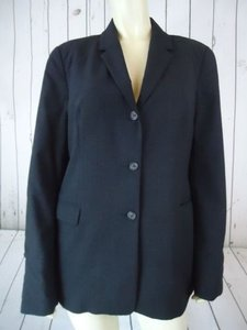 J.Crew J Crew Blazer Dk Gray Thin Wool Nylon Spandex Stretch Button Front Lined Chic