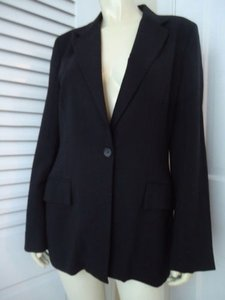 Banana Republic Banana Republic Blazer Wool Stretch Blend Italy Black Wblk Pinstripe Chic