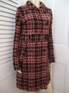 Lux Long Retro Mod Wool Blend Double Breasted Chic Coat