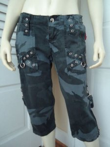 Tripp Nyc Crop Lowrise Capri/Cropped Pants Black, Gray Camo