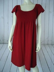 Anthropologie short dress Red Moth Sweater Rayon Cotton Cashmere Angora Soft Stretch Knit Peasant on Tradesy