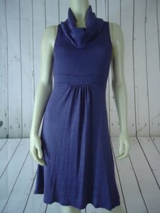 Michael Stars One Heather Pullover Knit Sleeveless Cowl Dress