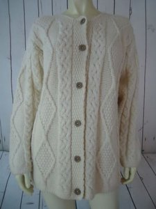 Other Connemara Knitwear Irish Wool Button Front Fisherman Chic Sweater