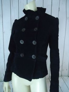 Hudson Jeans Blazer Coat Blue Navy Cotton Spandex Corduroy Double Breasted Navy Blue Jacket
