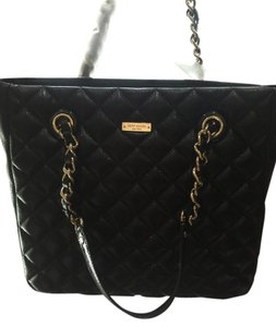Kate Spade Quilted Sierra Tote in Black