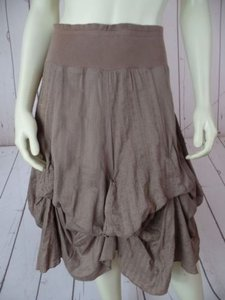 Divided by H&M Hm Adjustable Bustles Elastic Waist Boho Skirt Light Brown