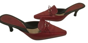 Cole Haan Leather Lining Red leather Mules