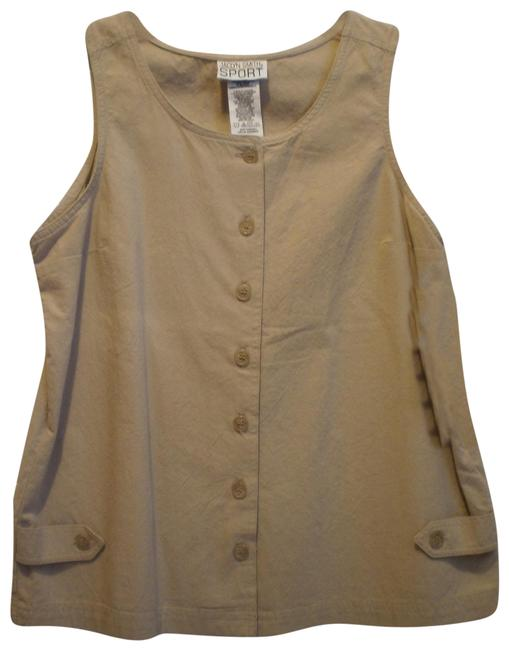 Preload https://item5.tradesy.com/images/jaclyn-smith-tan-new-sleeveless-blouse-size-10-m-137264-0-1.jpg?width=400&height=650