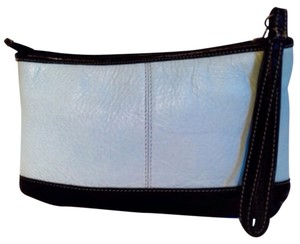 Latico Pebbled Leather Wristlet in Light Blue
