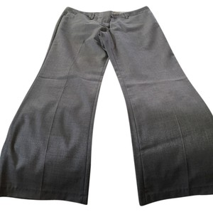 Express Editor Editor Straight Pants Silver/Gray