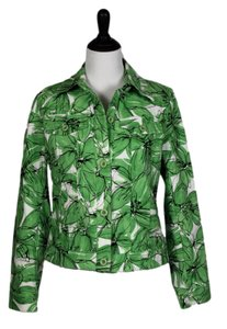 Rafaella Floral Green, Black, White Jacket