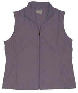 Columbia Full Front Zipper *2 Hand Pockets *micro Fleece Lined Neck *small Tag Logo On Upper Back Vest
