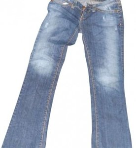 Anchor Blue Size 7 Regular Boot Cut Jeans-Medium Wash