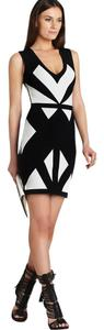 BCBGMAXAZRIA Color-blocked Bandage Dress