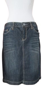 Converse Dark Wash Denim Pencil Skirt blue denim