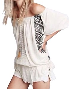 Free People Off T Shirt Ivory