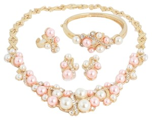 Other 18K Gold Plated Pearl Jewelry Set