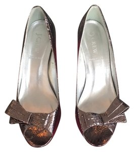 J.Crew Silver / gold / bronze metallic Pumps