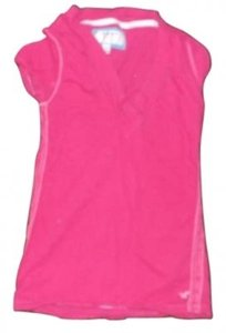 American Eagle Outfitters A&e M Sleeved V-neck T Shirt Pink