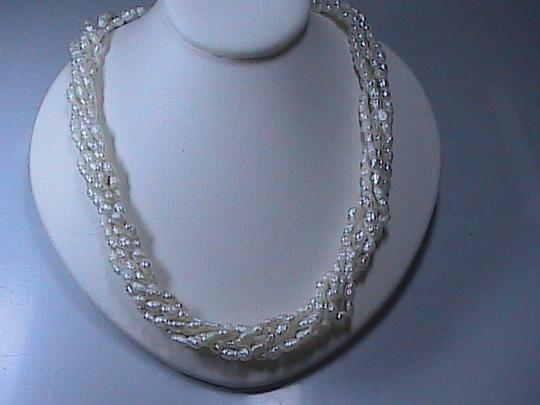 Other 14k Solid Yellow Gold FreshWater 5 Strand Pearl Necklace (item #2)