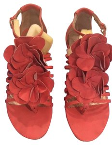 Saks Fifth Avenue Coral Sandals