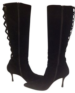 Manolo Blahnik Black suede leather Boots