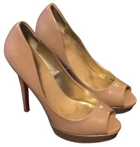 ShoeDazzle Nude Platforms