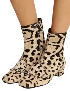 Gucci 362993 Womens Leopard Print Multi-Color Boots