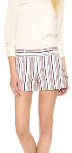 Club Monaco Mini/Short Shorts White with red and navy stripes