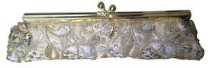 Carolo Fellini Evening Beaded Chain Strap Gold Clutch