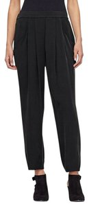 Eileen Fisher Silk Charmeuse Slouchy Silk Relaxed Pants Black