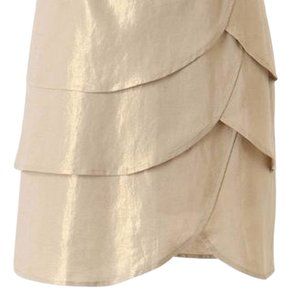 Anthropologie Skirt Mettalic Cream