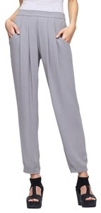 Eileen Fisher Silk Charmeuse Relaxed Pants PEWTER