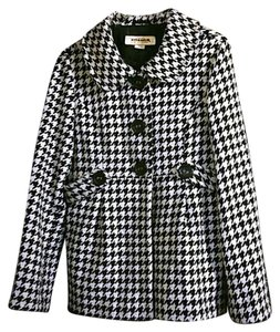 Hydraulic Houndstooth Checkers Fall Fashion Pea Coat