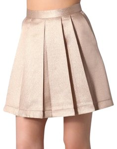 Club Monaco Mini Skirt Copper gold