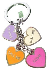 Coach COACH CONVERSATION HEARTS MIX KEYCHAIN