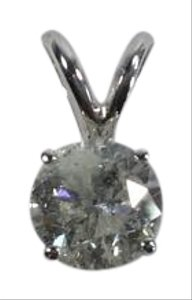 Matrix Creations 1 Ct Diamond pendant on Gorgeous 14 karat White Gold