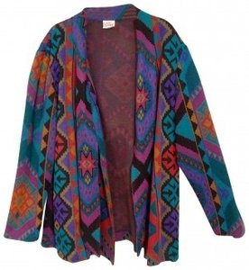 lady Graff Native Print Retro Vintage Jacket Coat multi colored Blazer