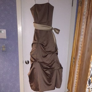 David's Bridal Tan Dress
