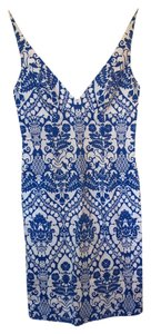 MILLY short dress Blue and White Figure Flattering on Tradesy