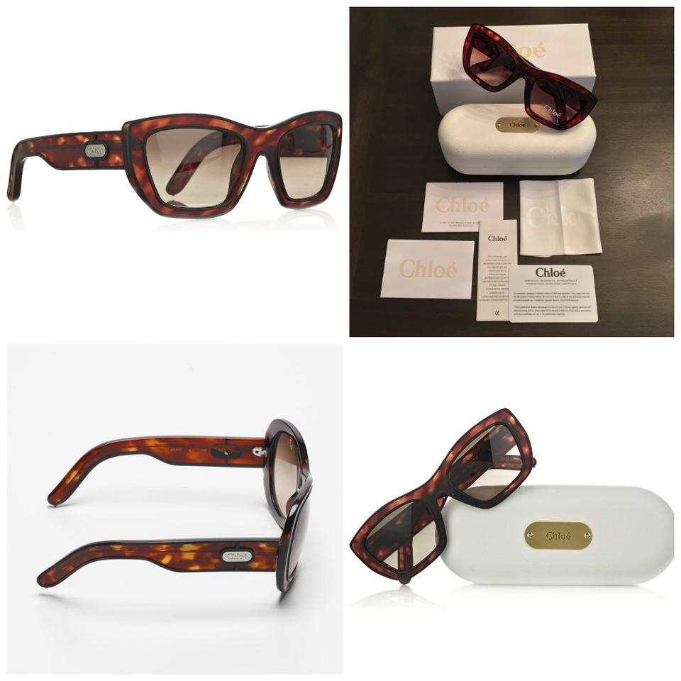 61bdf6de8933 Chloé SUNGLASSES NEW with case and cards CHLOE TORTOISE RETRO AUTHENTIC ...